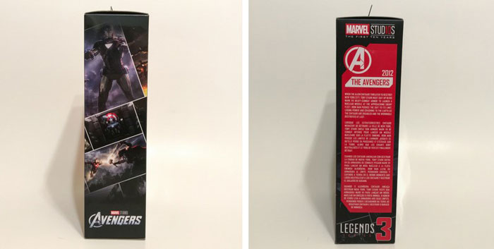 Side of Marvel Studios Iron Man box (Images and Description).
