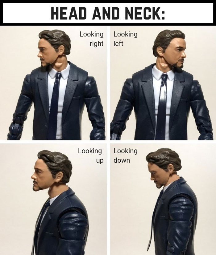 Tony Stark Head And Neck Articulation.