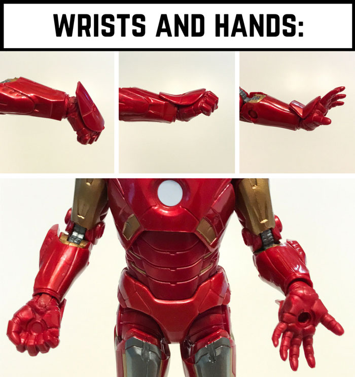 Wrist and hand articulation.