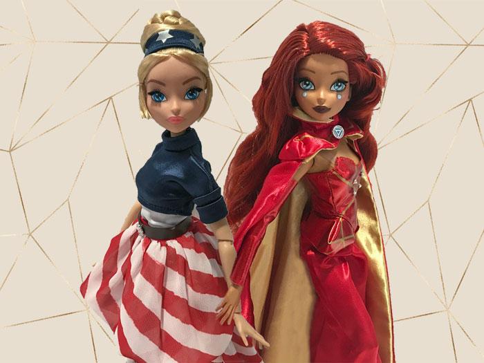 Marvel Fan Girl dolls.