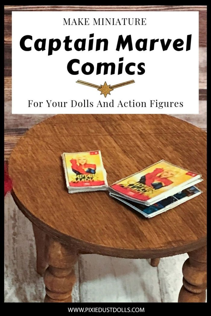 Make Miniature Captain Marvel Comics For Your Dolls And Action Figures.