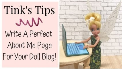 Five tips for writing an about page for your doll blog.