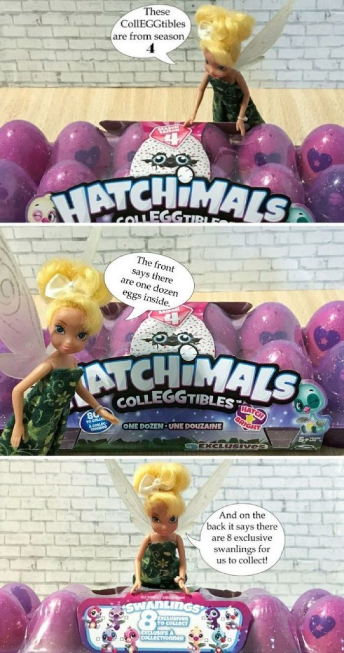 Image of Tinkerbell with Season 4 Hatchimal Colleggtibles.