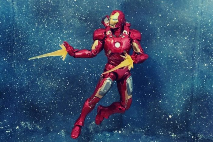 Iron Man with drama photo filter.