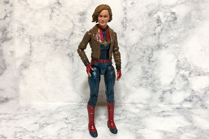 Marvel Legends Captain Marvel With Bomber Jacket.