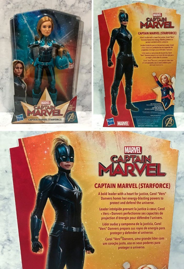 Captain Marvel Starforce doll by Hasbro.