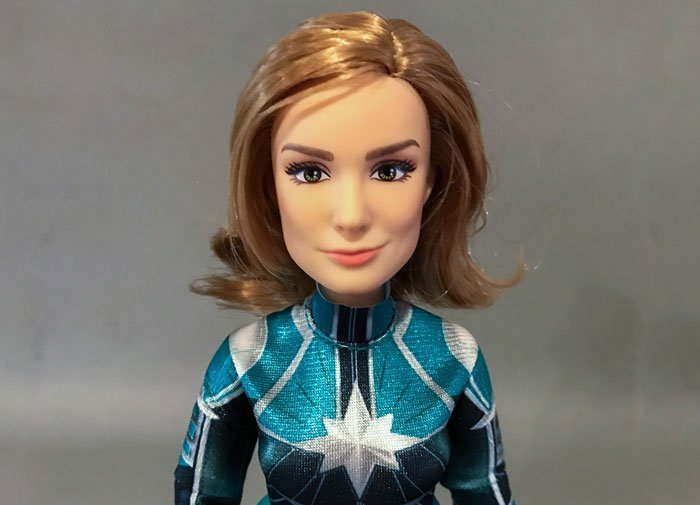 Here is a closer look at the Captain Marvel Starforce doll.