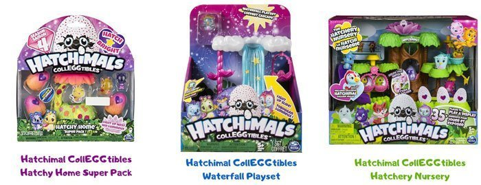 Hatchimal CollEGGtible Playsets.