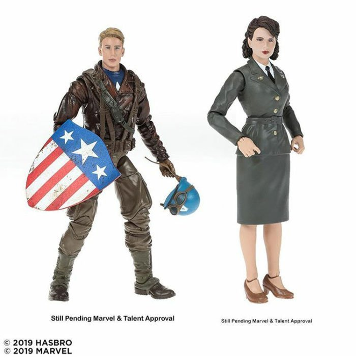 Marvel Legends 80th Anniversary Legends Captain America and Peggy Carter Two-Pack. Coming Fall 2019.