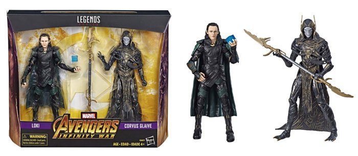 Marvel Legends Loki and Corvus Glaive 2-Pack from Walmart.