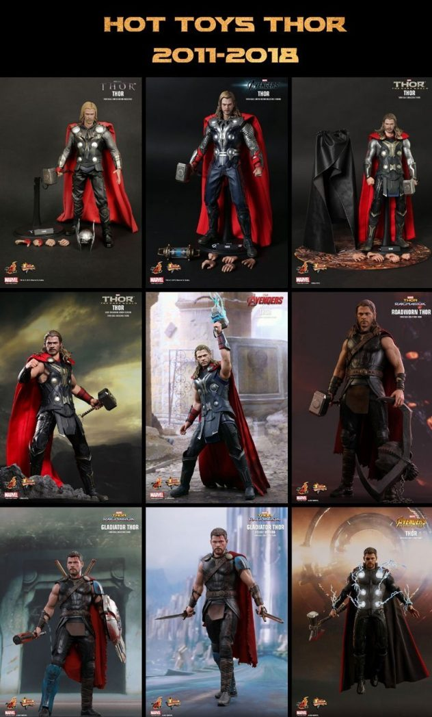Hot Toys Thor Figures 2011-2018.
