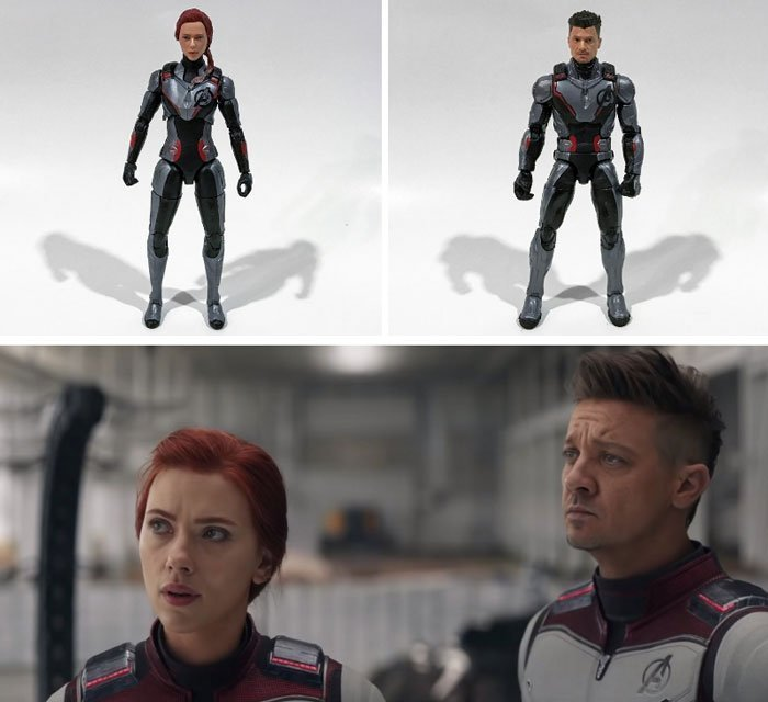 The suits on the Marvel Legends Endgame figures are not entirely accurate.