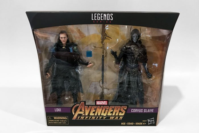 Reviewing the Walmart Exclusive Marvel Legends Loki and Corvus Glaive set.