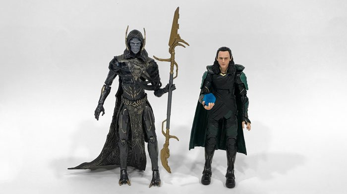 Marvel Legends Avengers: Infinity War Loki and Corvus Glaive figures.