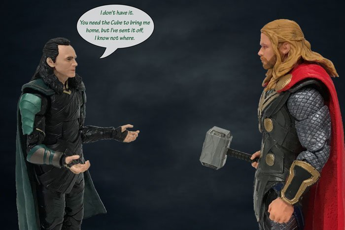 Marvel Legends Loki and Thor (@PixieDustDolls).)