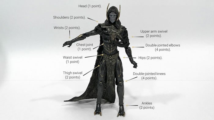 Image showing Corvus Glaive's points of articulation.