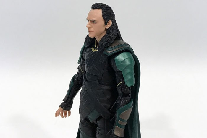 Image of Loki after gluing his cape down.