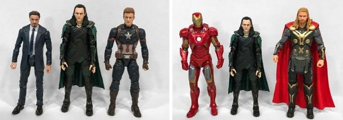 Image comparing Infinity War Loki to other Marvel Legends.