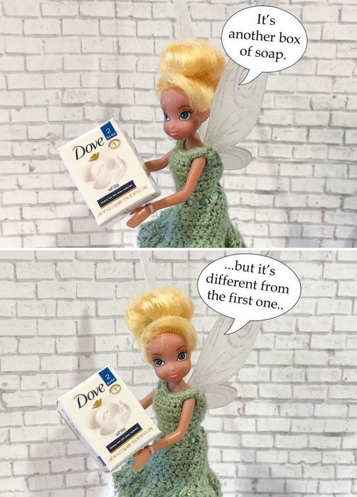 Image of Tink: Another box of Dove soap.
