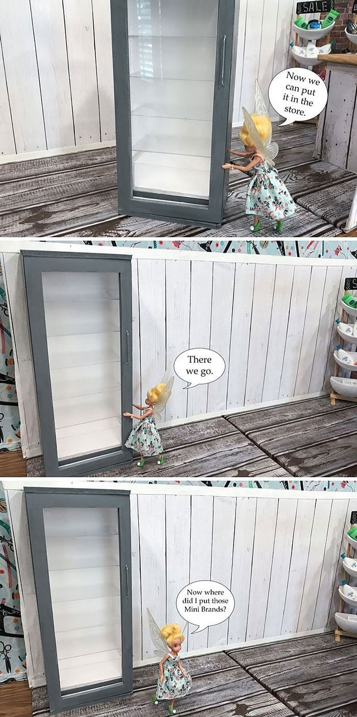 Tink: Now we can put this freezer in our doll grocery store.