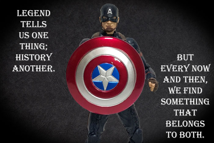 Marvel Legends Captain America with quote.