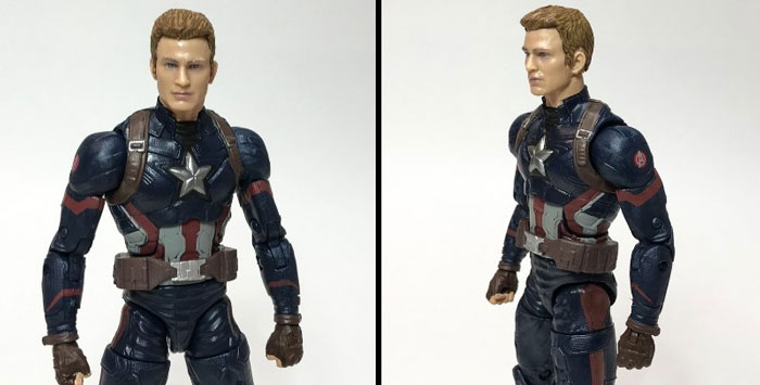 Marvel Legends Captain America without his mask.