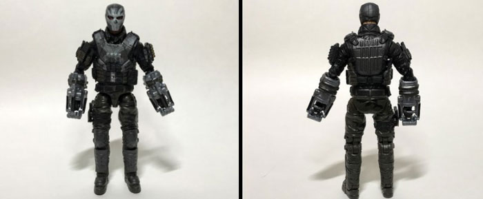 Marvel Legends Crossbones Figure: Front and Back.