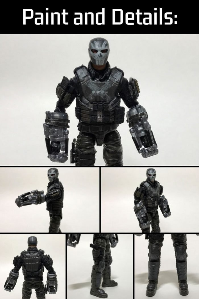 Marvel Legends Crossbones Figure: Paint and Details.