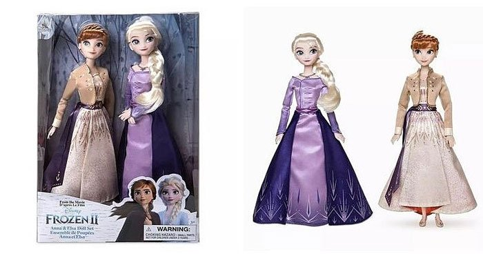 Frozen 2 Anna and Elsa Classic Doll Set from the Disney Store.