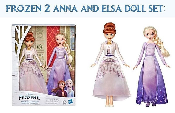 Frozen 2 Anna and Elsa Doll Set from Hasbro.