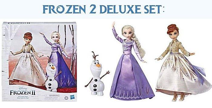 Frozen 2 Anna and Elsa Deluxe set (Amazon Exlusive).