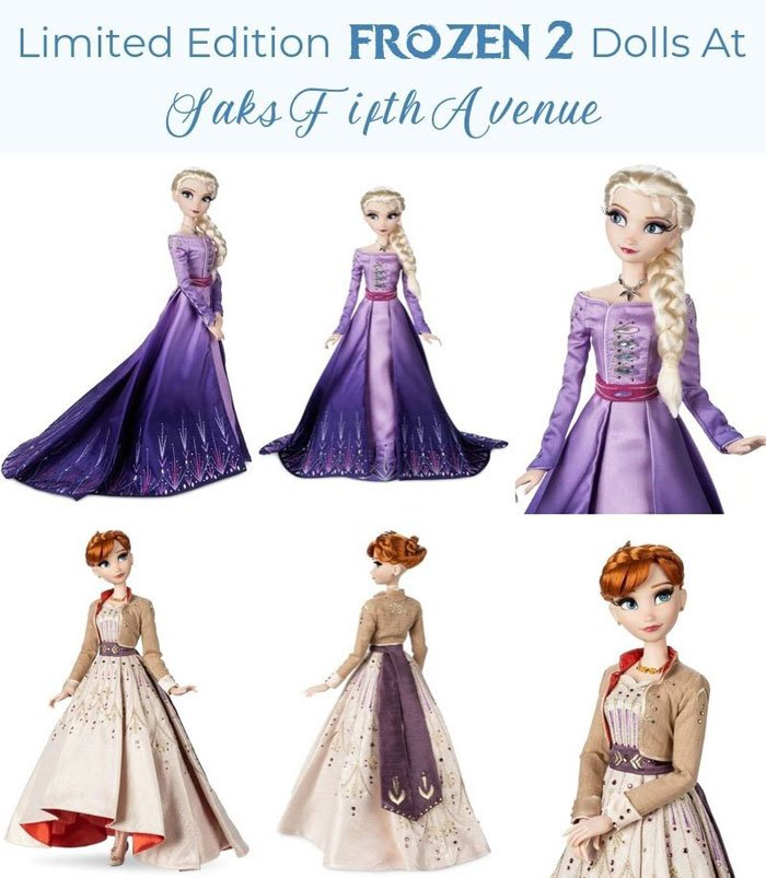 Limited Edition Frozen 2 dolls at Saks Fifth Avenue.