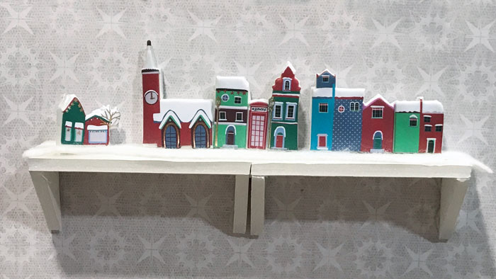Miniature Christmas Villages For The Dollhouse.