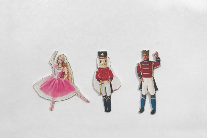 Miniature Barbie Nutcracker Dolls.