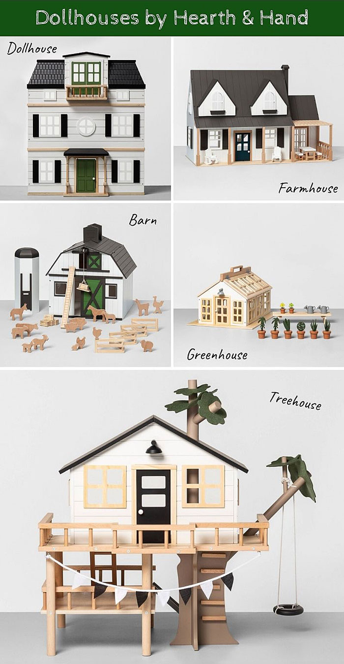 Dollhouses by Hearth & Hand at Target.