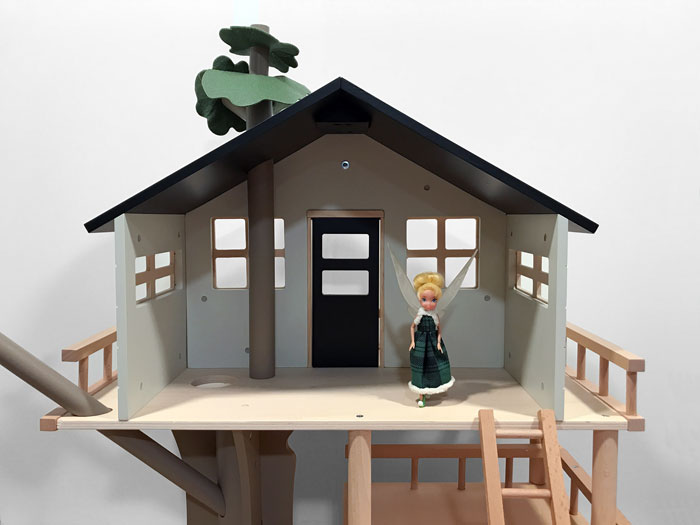 This Treehouse is the perfect size for a 4-inch doll.
