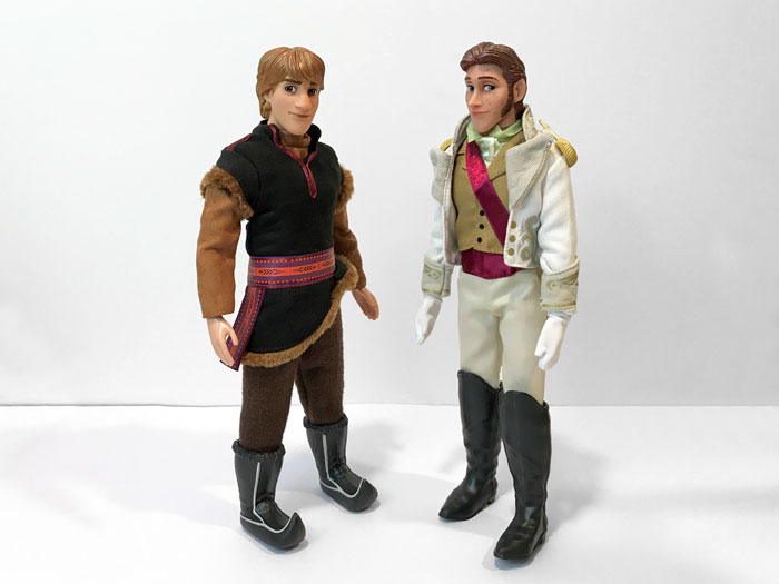 Disney Classic Prince Dolls: Kristoff and Hans.