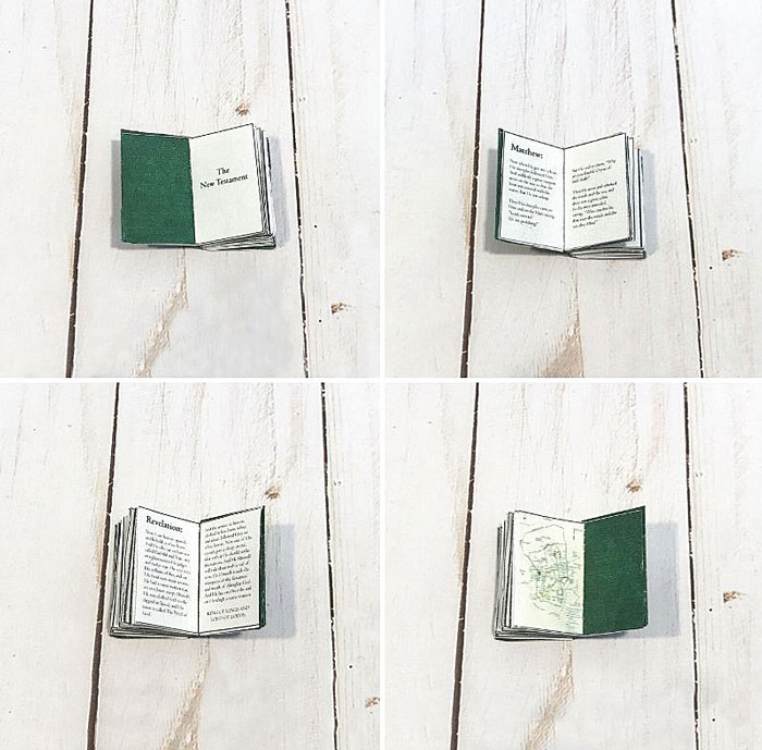 Miniature Bible (inside).