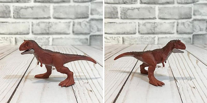 Jurassic World Mini Dinosaur: Carnotaurus.