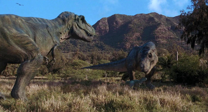 T-Rex family in Jurassic Park: The Lost World.