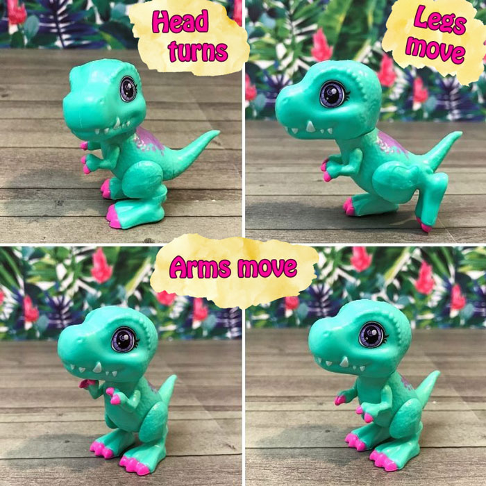 Cave Club Baby Dino Crystals are poseable!