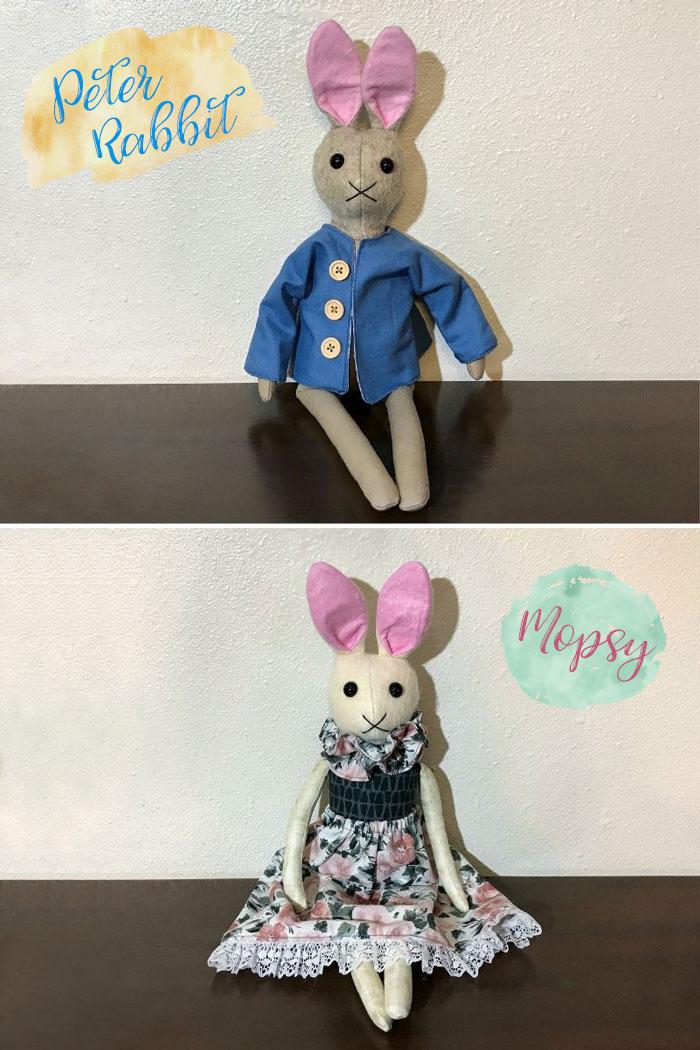 Handmade Bunny Dolls.