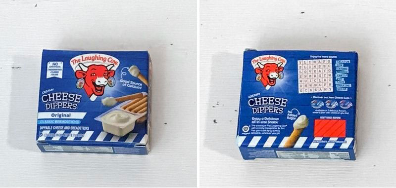 5 Surprise Mini Brands Season 2: Laughing Cow Cheese Dippers.