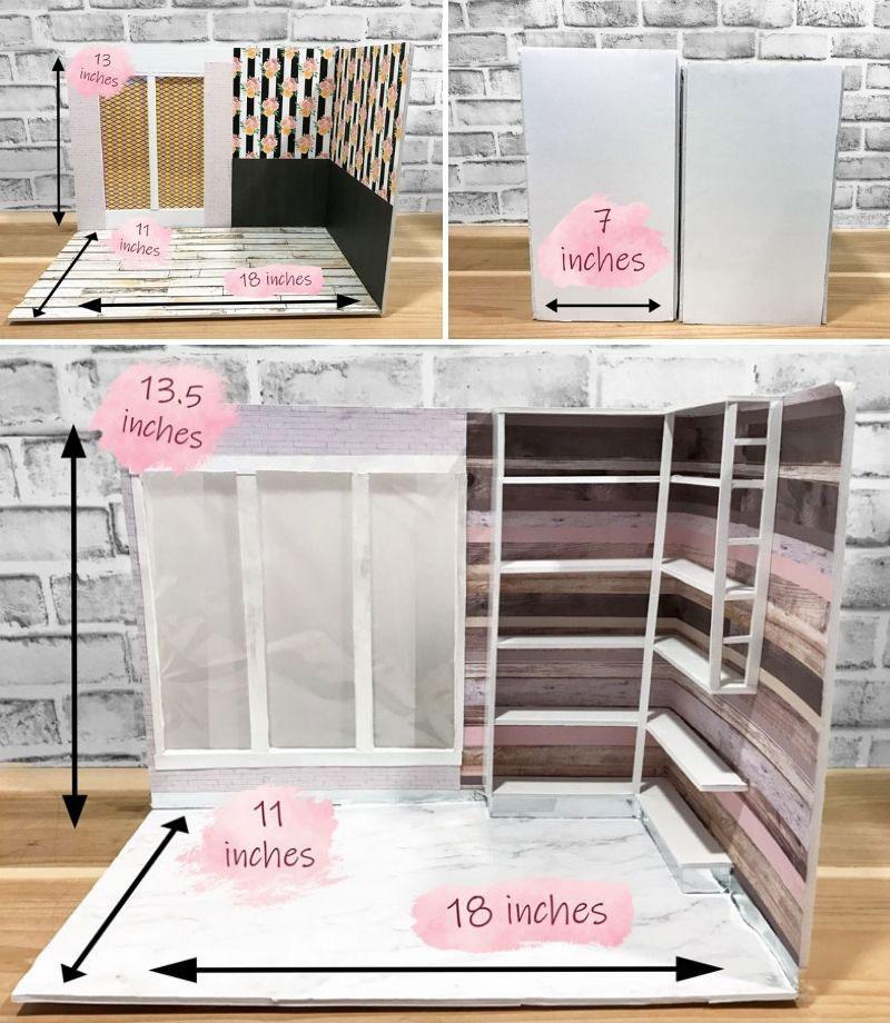 Folding Doll Room Measurements.