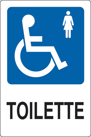 Cartello TOILETTE disabili donne  Pixlemon