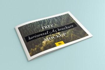 Horizontal A5 Brochure mockup