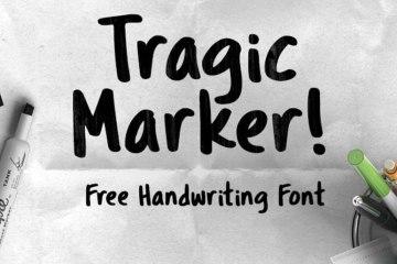 Tragic Marker free handwritten font