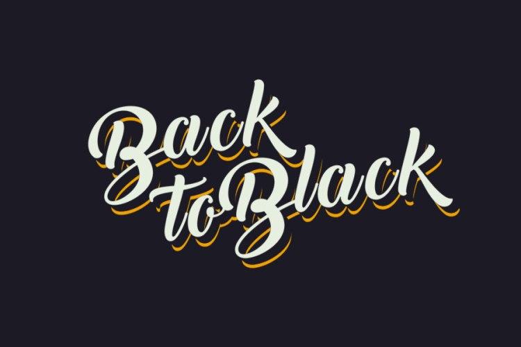 back-to-black free script font