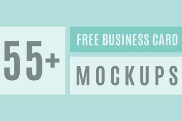 Free Business card PSD Mockup Templates 2016