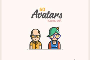 Free 50 Avatars Icon Pack